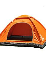 2 personnes Tente Double Tente pliable Une pièce Tente de camping 1000-1500 mm Fibre de verre OxfordRésistant à l'humidité Etanche