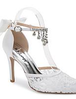 Damen-Sandalen-Hochzeit Outddor Büro Kleid Lässig Party & Festivität-Seide maßgeschneiderte Werkstoffe-Stöckelabsatz-D'Orsay und