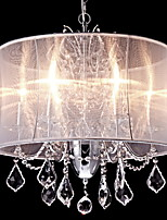 Chandelier ,  Modern/Contemporary Traditional/Classic Country Chrome Feature for Crystal Mini Style Designers MetalLiving Room Bedroom