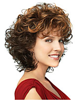 The European and European Wigs of the Trade Woman Double Colour Gradient Small Roll the False Head Wig