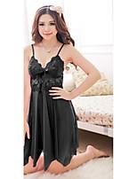 Ultra Sexy Vêtement de nuit Femme,Sexy Couleur Pleine-Moyen Spandex Aux femmes
