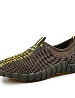 Мужские бездельники&Slip-ons весна комфорт пару обувь холст tulle casual светло-коричневый светло-серый темно-серый