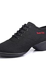 Non Customizable Women's Dance Shoes Fabric Fabric Dance Sneakers / Modern Sneakers Low Heel Outdoor  Black/Black-Red