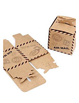 50Piece/Set Let the Adventure Begin Airplane Kraft Paper Favor Box 6 x 6 x 6 cm/pcs Beter Gifts® Wedding Candy Decoration