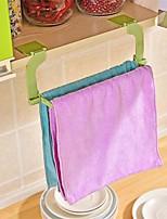 1Pcs  Seamless Paste Perforation Free Towel Rack Hanging Towel Kitchen Toilet Bathroom Towel Rack Random Color