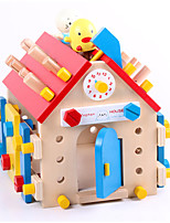 Building Blocks Educational Toy For Gift  Building Blocks House Wood 2 to 4 Years 5 to 7 Years Toys