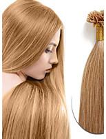 Cabelo real humano real remy u-tip fusão extensões de cabelo humano 100s peruvian pré-ligado u-ponta cabelo extensão reta 0,5g / strand