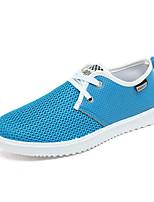 Серый Коричневый Синий-Для мужчин-Для прогулок Для офиса Повседневный-Замша Ткань-На плоской подошве-Удобная обувь Светодиодные подошвы-