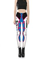 Femme Sexy Mignon Taille Normale Micro-élastique Chino Pantalon,Slim Fleur Imprimé Lettre