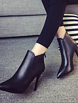 Women's Heels Spring Club Shoes PU Casual Black