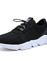 Herren-Sneaker-Outddor Lässig Sportlich-Tüll-Flacher Absatz-Komfort Leuchtende Sohlen-