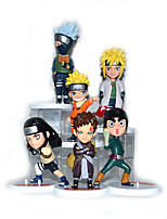Anime Action Figures Inspired by Naruto Naruto Uzumaki PVC 11-8.5 CM Hatake Kakashi Model Toys Doll Toy 6PCS
