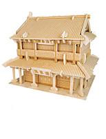 Puzzles Puzzles 3D Blocs de Construction Jouets DIY  Architecture Chinoise Bois Maquette & Jeu de Construction