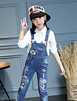 Girls' Casual/Daily Floral Jeans Fall