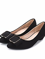 Women's Loafers & Slip-Ons Spring Comfort PU Casual Black Blue Blushing Pink
