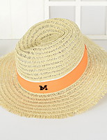 M Letter Men in Western Cowboy Hat Summer Folding Beach Outdoor Tourism Wide Brim Hawaii Folding Soft Sun Hat