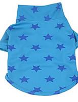 Chien Tee-shirt Vêtements pour Chien Mignon Etoiles Jaune Fuchsia Bleu