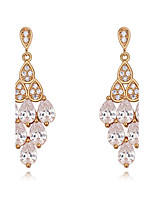 Drop Earrings AAA Cubic Zirconia Dangling Style Bikini Fashion Luxury Statement Jewelry Cubic Zirconia Copper Gold Plated Drop Jewelry For