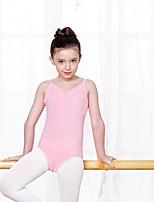 Ballet Leotards Kid's Training Cotton Spandex 1 Piece Leotard