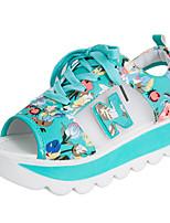 Women's Heels Spring Summer Fall Comfort PU Casual Chunky Heel Buckle