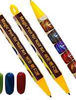1шт модный милый гвоздь волшебный ручка кошачий глаз магнитная ручка гвоздь diy краска для покраски пера гвоздь искусство пунктуация