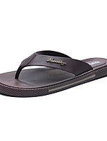 Men's Slippers & Flip-Flops Summer Light Soles PU Casual Blue Coffee Black