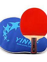 6 Stars Ping Pang/Table Tennis Rackets Ping Pang Wood Short Handle Pimples
