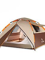 3-4 personnes Tente Double Tente automatique Une pièce Tente de camping 2000-3000 mm Oxford Résistant à l'humidité Etanche Respirabilité-