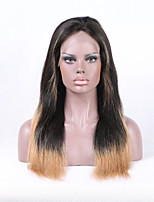 Beata Hair Brazilian Remy Human Hair Ombre Color 1B/27  Straight Lace Front Wig For Black Women Natural Hairline