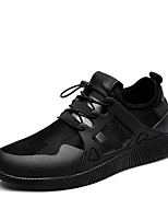 Men's Sneakers Spring Summer Fall Winter Comfort Leatherette Outdoor Athletic Casual Gore Black/Red Gray Black Walking