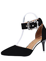 Women's Heels Spring Summer Fall Comfort Fabric Office & Career Dress Stiletto Heel Rhinestone Blushing