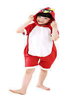 Kigurumi Pajamas Leotard/Onesie Festival/Holiday Animal Sleepwear Halloween Red Animal Print Cotton Cosplay Costumes ForUnisex Female Kid