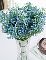 9 Rama Poliéster Gipsófila Flor de Mesa Flores Artificiales