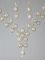 Жен. Ожерелья с подвесками Геометрической формы Искусственный жемчуг Стразы Базовый дизайн Искусственный жемчуг Бижутерия ДляСвадьба Для