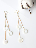 Drop Earrings Tassels Euramerican Fashion Cowry Alloy Circle Gold Jewelry For Party Daily 1 Pair