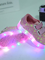 Kids Boys Girls' Sneakers Summer Fall Light Up Shoes First Walkers Luminous Shoe PU Wedding Outdoor Casual Low Heel LED