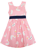 Girls Dress Fashion Pink Lovely Goose Party Casual Princess Children Clothes