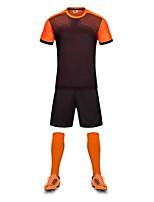 Муж. Футбол Наборы одежды/Костюмы Дышащий Быстровысыхающий Лето Полиэстер Футбол Оранжевый Желтый Красный Синий