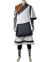 Video Game Cosplay Costumes Cosplay Suits Patchwork White Black Red Gray SleevelessCoat Vest Top Shorts Apron