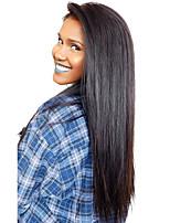 פאות משי תחרה מול פאות שיער אדם בתולות ישר הודיות לנשים שחורות עם שיער תינוק ואת קו שיער טבעי