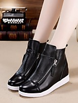 Women's Flats Spring Comfort PU Leather Casual Black White