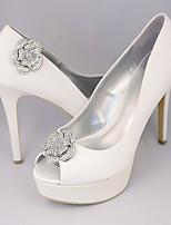 Vintage Flower Crystal Detachable Decorative Accents Plastic Shoe Clip Anywhere Shoe Accessories Ornaments 1 Pair