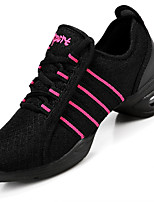 Women Dance Shoes Breathable Mesh Shoes Dance Training Balck Red White