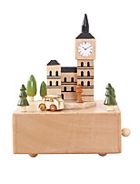 Music Box House Holiday Supplies Wood Unisex