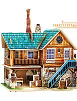 Puzzles Puzzles 3D Blocs de Construction Jouets DIY  Bois Maquette & Jeu de Construction