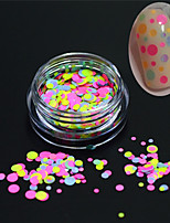 1Bottle Fashion Nail Art Glitter Round Paillette Decoration Nail Art DIY Beauty Colorful Round Slice P29