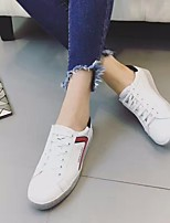 Women's Sneakers Spring Comfort PU Canvas Casual White