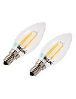 BRELONG Dimmable 4W E14 4COB LED Filament Bulbs  White / Warm White  AC220-240V 2Pcs