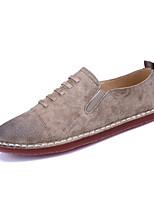 Черный Темно-русый-Для мужчин-Для прогулок Повседневный-ПолиуретанУдобная обувь-Кеды