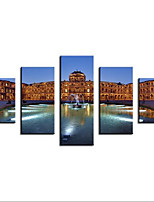 Giclee Print Landscape Modern,Five Panels Canvas Any Shape Print Wall Decor For Home Decoration